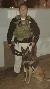 K9 Dog Unit and Police Officer
