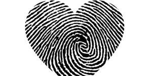Fingerprint Scan in shape of Heart